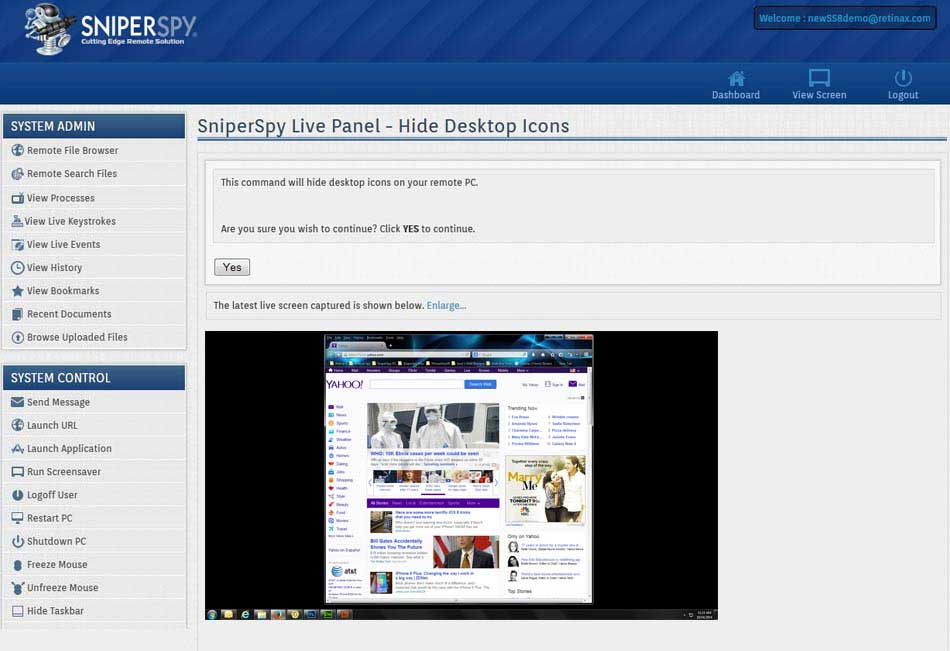 Features   SniperSpy   Computer Monitoring Software